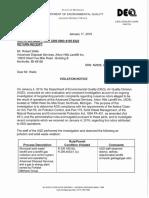 Jan 17 Violation Notice