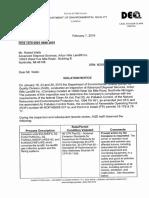 Feb 7 Violation Notice