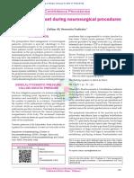 Fluid Management During Neurosurgical Procedures