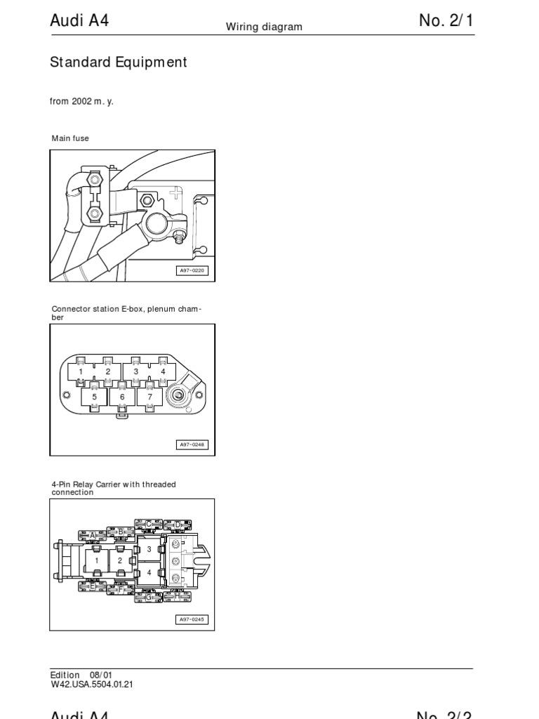 Audi A4 B5 Wiring Diagram