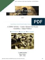 A GRIPE NEGRA - Conto Clássico de Ficção Científica - Edgar Wallace _ CONTOS de TERROR