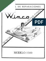 Manual Bandeja WINCO 1
