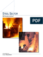 Steel Industry Demand Supply Last 5 Yrs & Company Plans