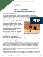 ConJur - STF Julgará Posse de Áreas Tradicionalmente Ocupadas Por Indígenas