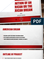 definition of an american or the american dream outline  3
