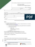 F301 - Pedido de Certidão de Registo de Infrações Do Condutor 2018