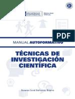 Manual Tecnicas de Investigacion Cientifica by UCV