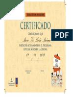 Certifica de Niños en Word