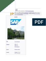 SAP SE FULL