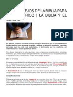 Consejos biblicos para hacerte rico