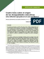Cuatro Tesis Sobre El Origen de Las Desigualdades Educativas - 01 19