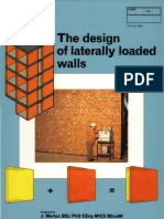 The Design of Laterally Loaded Walls
