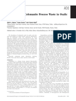 Dissolution of Colemanite Process Waste in Oxalic
