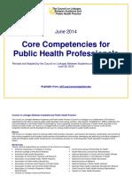 Core Competencies for Public Health Professionals 2014June