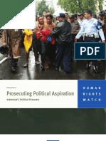 Prosecuting Political Aspirations_HRW Indonesia