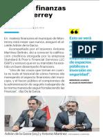 26-02-19 Mejoran finanzas en Monterrey