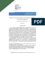 Hal S. Scott, What to Do About Foreign Discriminatory Forum Non Conveniens Legislation