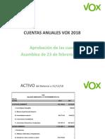 Vox Cuentas 2018