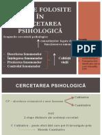 1 Metode Folosite in Cercetarea Psihologica