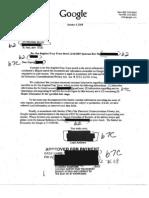 Google Surveillance Invoice