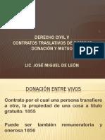 Contratos Traslativos de Dominio Donación y Mutuo