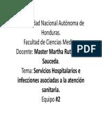 Infecciones nosocomiales y servicios hospitalarios