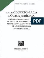 1 1 LOGICA JUR, Introducción-Velazquez Cabrera, José Fdo- All