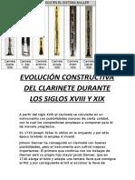 Evolución Constructiva Del Clarinete Durante Los Siglos Xviii y Xix