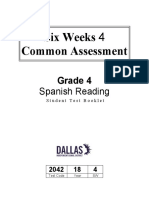 Practica de examen de espanol Spanish Reading  4th grade