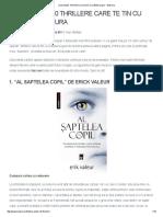 Zece Thrillere Care Te Tin Cu Sufletul La Gura - Bookuria'