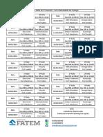 Cronograma 1º Semestre 2019