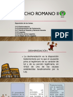 Derecho Romano Desheredacion