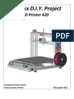 3D Printer 420 manual e fabricação