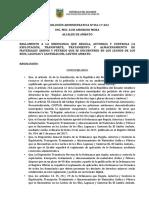 Reglamento de Ordenanza Aridos y Peetreos