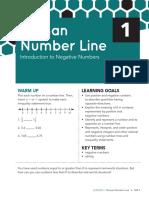 human number line cl se