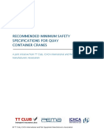 Recommended Minimum Safety Specifications for Quay Cranes