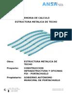 Memoria Proyecto Estructura Techo