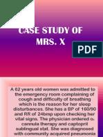 CASE STUDY OF MRS X