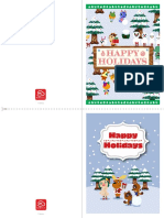 Animal Crossing HolidayCards