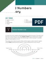 signed numbers summary