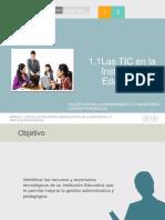 Modulo I Sesion1 Orientando El Uso de Las Tic en La IE