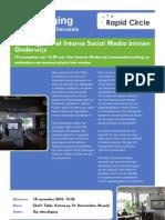 Uitnodiging Roundtable Interne Social Media Onderwijs 18-11-2010