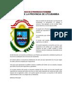 Símbolos de La Provincia de Utcubamba