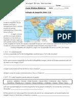 Avaliação de Geografia - Valor 2,0