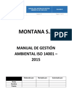 MANUAL DE IMPLEMENTACIÓN DE LA NORMA ISO 14001:2015