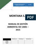 MANUAL DE IMPLEMENTACIÓN DE LA NORMA ISO 14001:2015