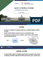 Automatic Control W01 Lec01