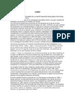 Kambó Resumen de investigación cientifica
