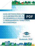 Guia Plan de Desarrollo Municipal Segeplan