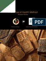 In Defense of Hadith Method Final(1)
